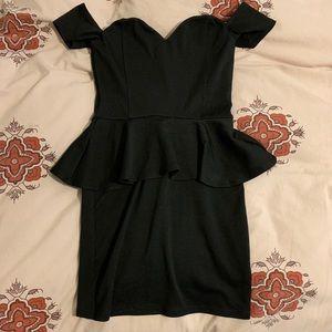 Nasty Gal Black Off the Shoulder Dress